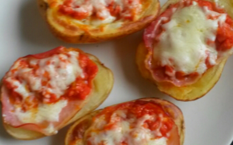 Pomme de terre farcie façon pizza