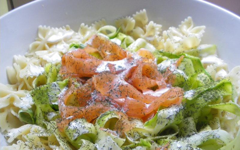 recette tagliatelles de courgettes au saumon trop facile conomique et simple cuisine tudiant. Black Bedroom Furniture Sets. Home Design Ideas
