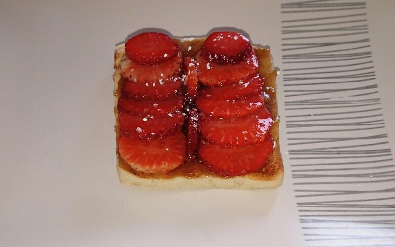 Tartelette fraise / rhubarbe express
