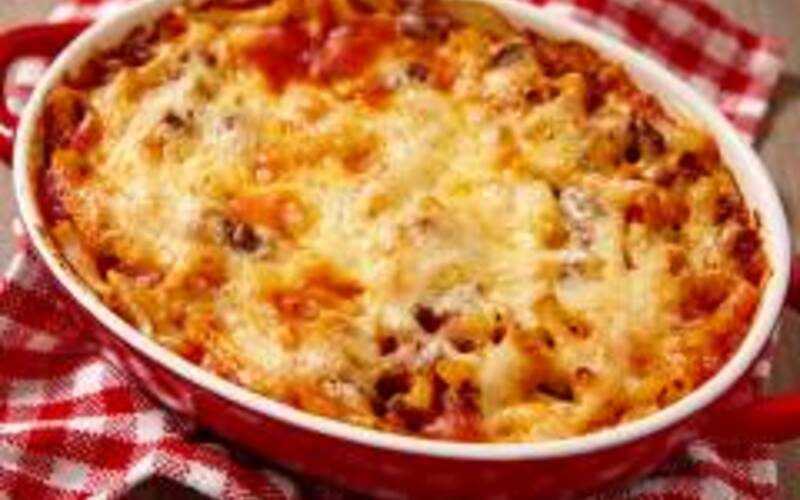 gratin de macaronis tomate et 3 fromages