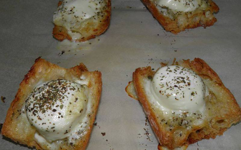 toasts normands au camembert