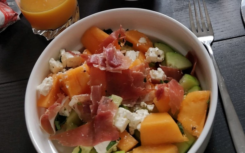 Salade melon concombre menthe