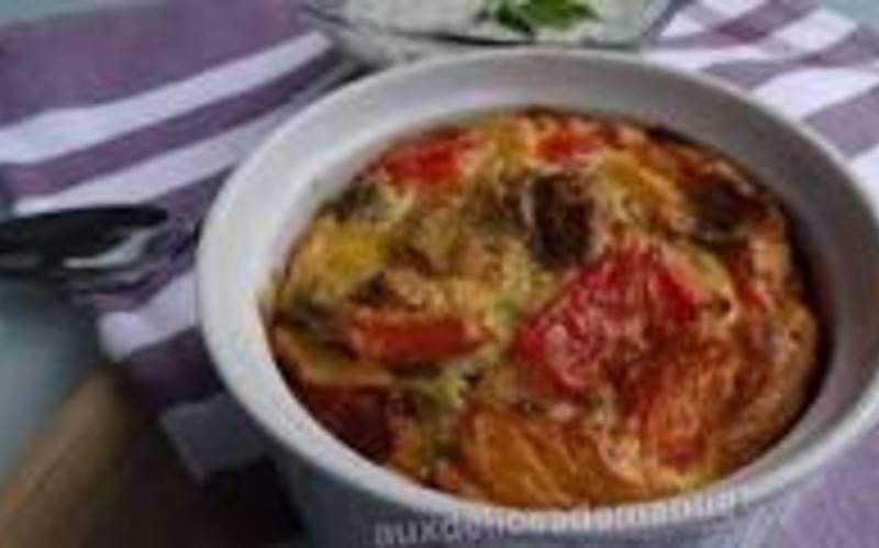 Flan aux légumes du soleil& chorizo
