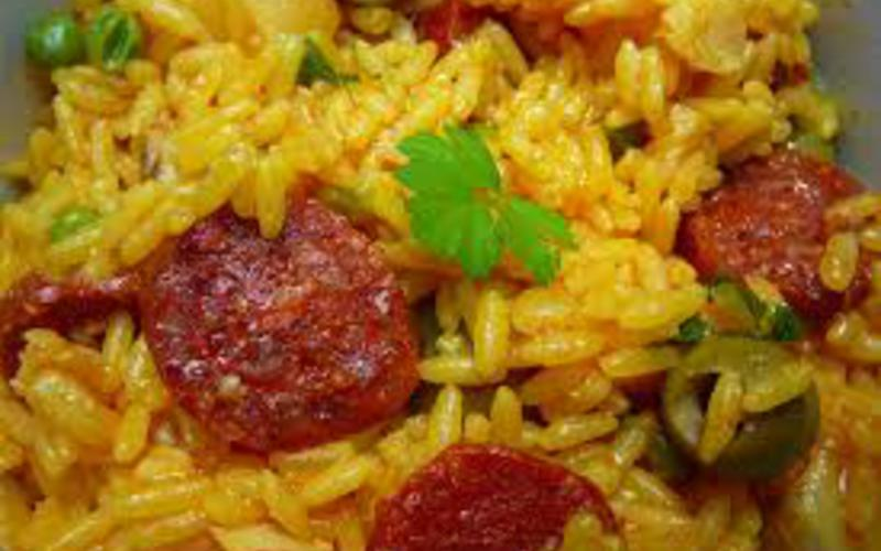 Riz légumes et chorizo