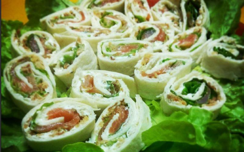 Wrap saumon / carré frais