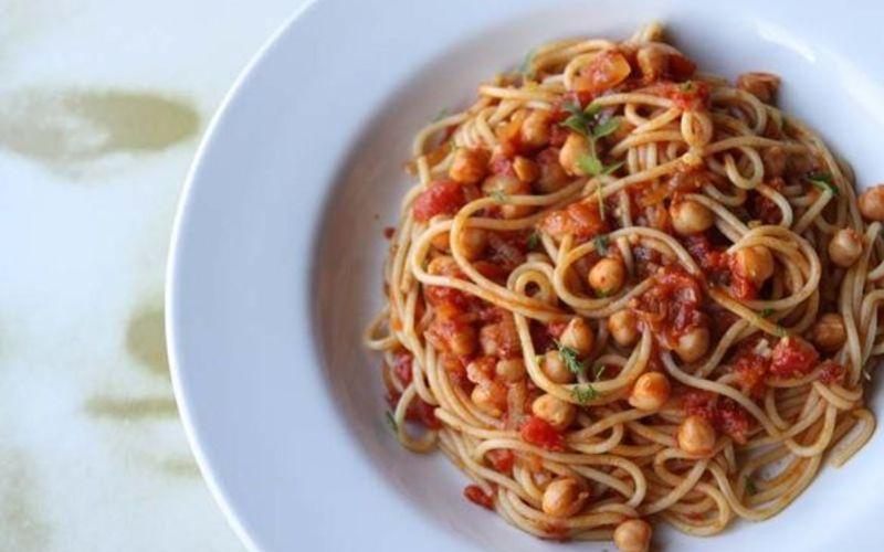 Spaghetti aux pois chiches
