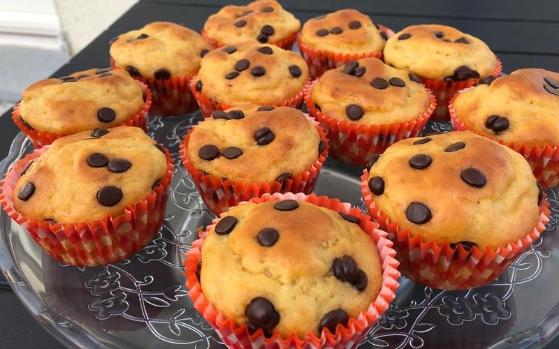 Minis muffins légers aux pépites de chocolat