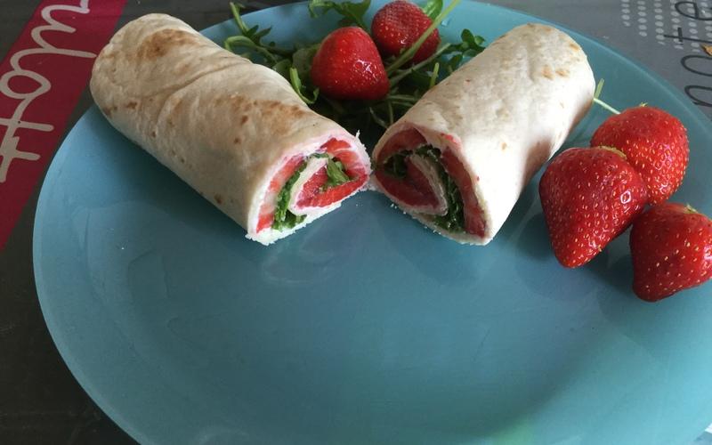 Wraps fraise-roquette