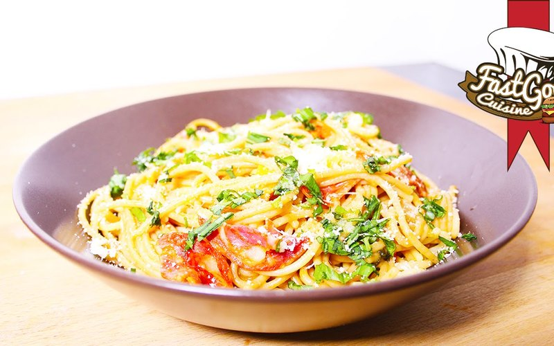 One pot pasta chorizo/basilic