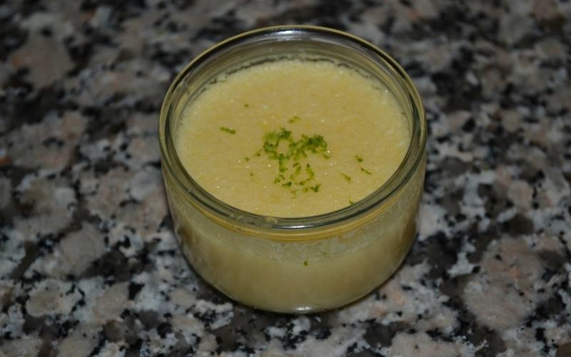 Flan coco citron vert