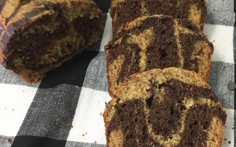 Cake marbré banane /spéculos
