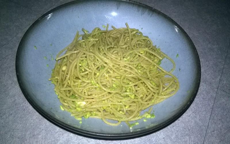 Spaghetti à l'avocat