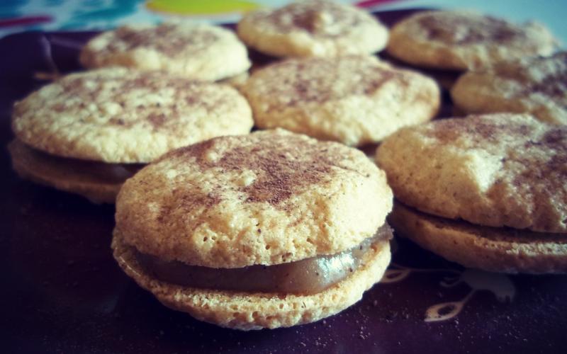 Macarons crème de marron - vanille