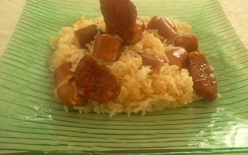 Riz pilaf aux saucisses