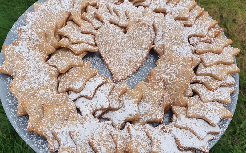 Sablés de Noël à la farine de châtaigne