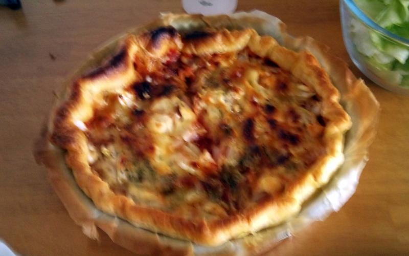 Pizza oignons chèvre