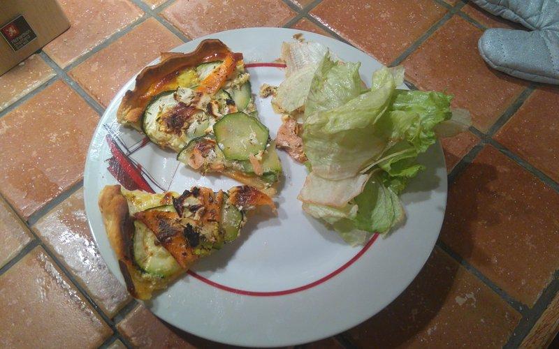 Tarte courgettes et saumons