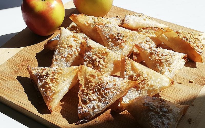 Samossas aux pommes caramélisées