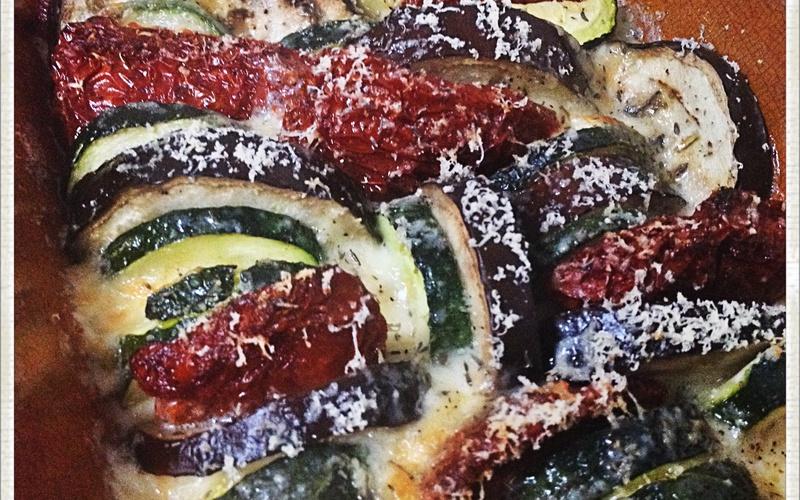 Tian / Gratin de légumes mozarrella !