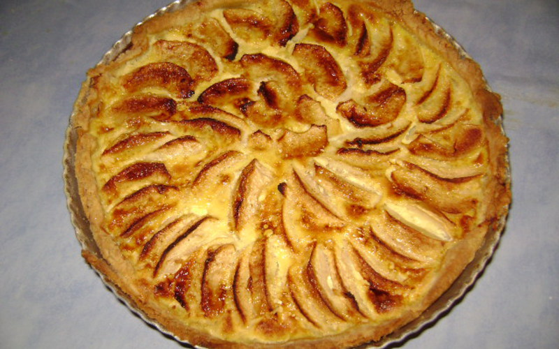 recette tarte aux pommes fa on normande pas ch re et. Black Bedroom Furniture Sets. Home Design Ideas