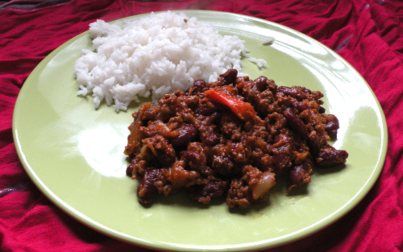 recette chili con carne facile conomique et simple cuisine tudiant. Black Bedroom Furniture Sets. Home Design Ideas