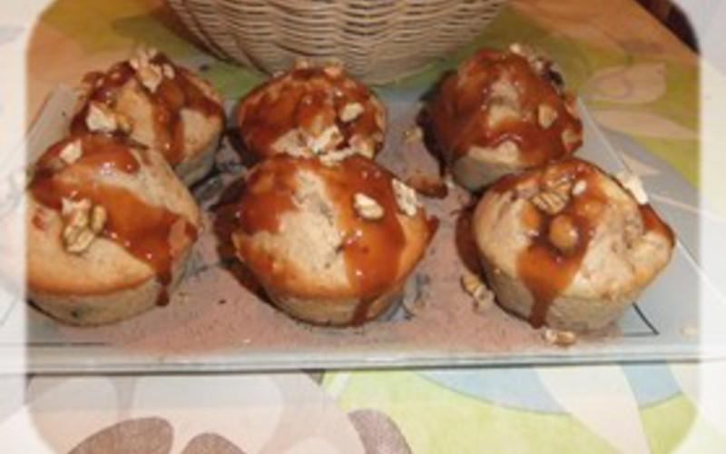 Muffins pommes-cannelle,  pépites de chocolat