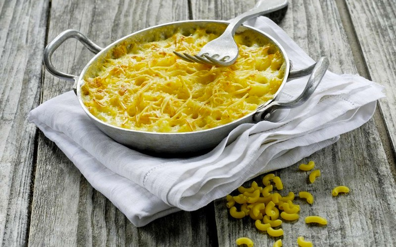 Gratin de macaronis aux deux fromages