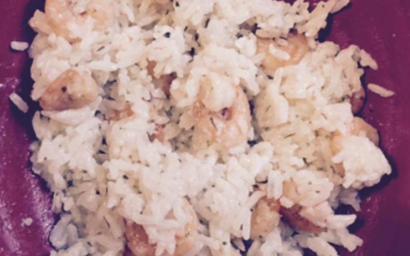 Risotto crevettes et fromage frais light