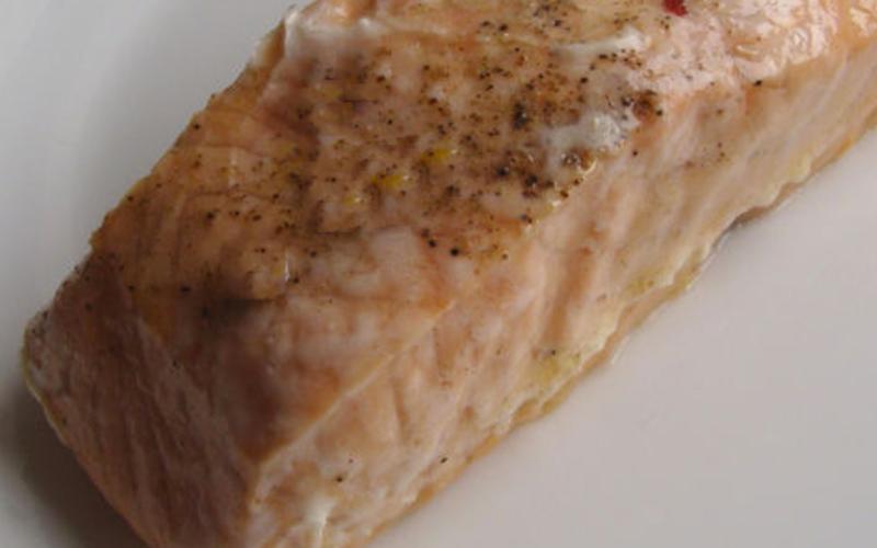 Darne de saumon  en papillote au micro-onde