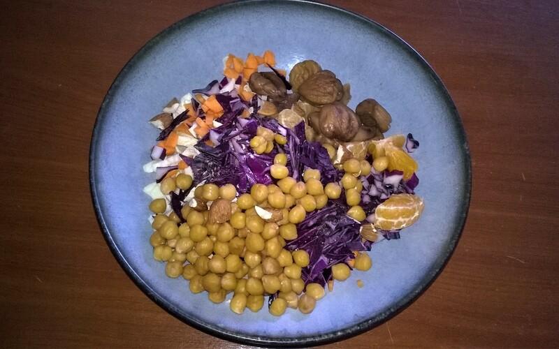 Salade hivernale au chou