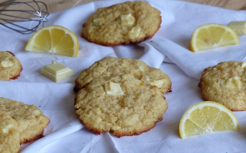 Cookies chocolat blanc citron
