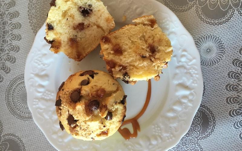 Muffin pépites chocolat et caramel