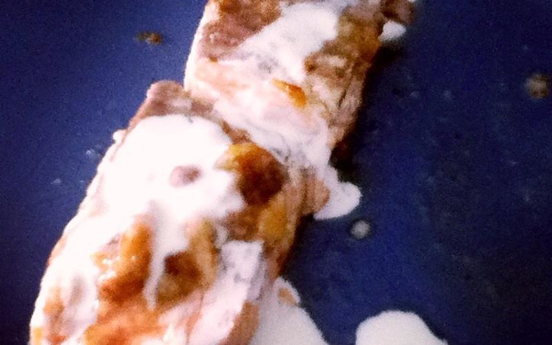 Pavé de saumon à la poêle et sa sauce crème-miel