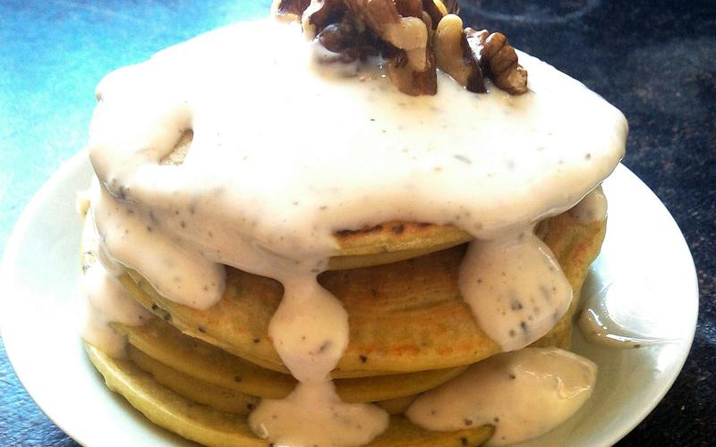 Pancakes citron-pavot sans beurre
