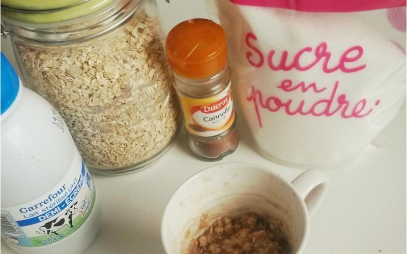 Porridge minute a la cannelle