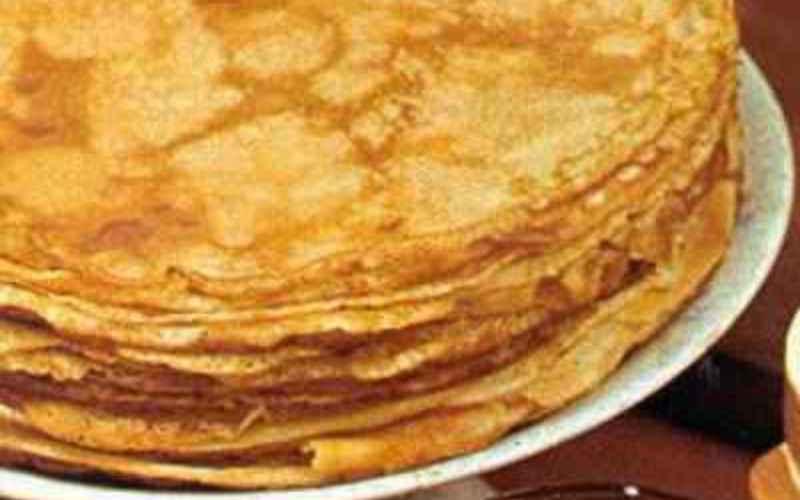 Recette de la pâte à crêpes sucrée