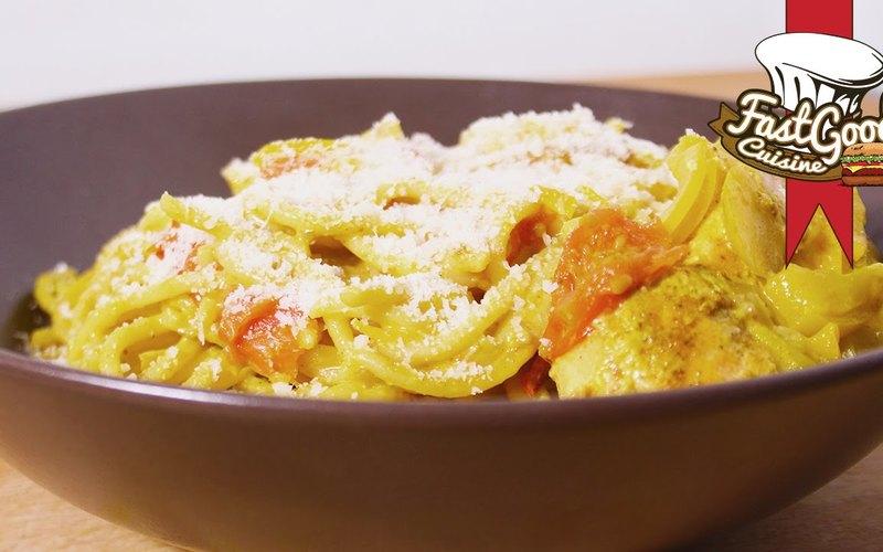 One pot pasta saumon/coco/curry