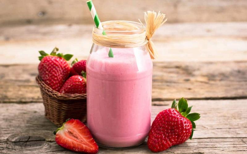 Smoothie rhubarbe et fraise