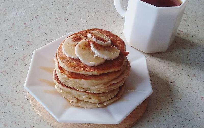recette pancakes la banane pas ch re et simple cuisine. Black Bedroom Furniture Sets. Home Design Ideas