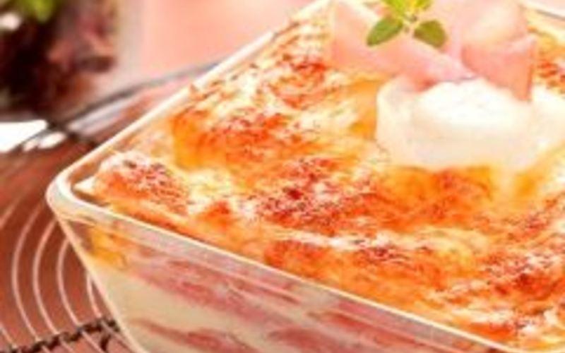 recette lasagnes au ch vre et au bacon conomique et simple cuisine tudiant. Black Bedroom Furniture Sets. Home Design Ideas