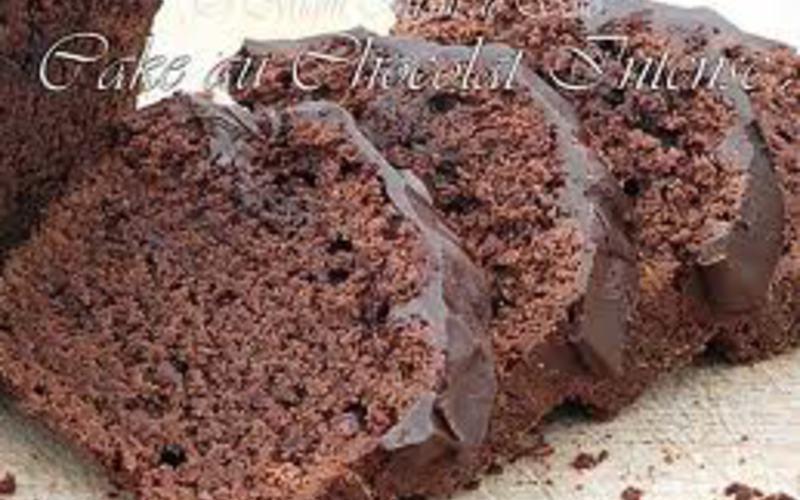Cake et glaçage au chocolat