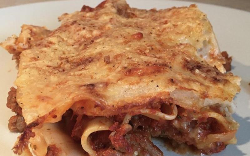 Lasagnes légères à la bolognaise