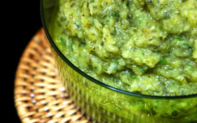 guacamole de courgettes ( light)
