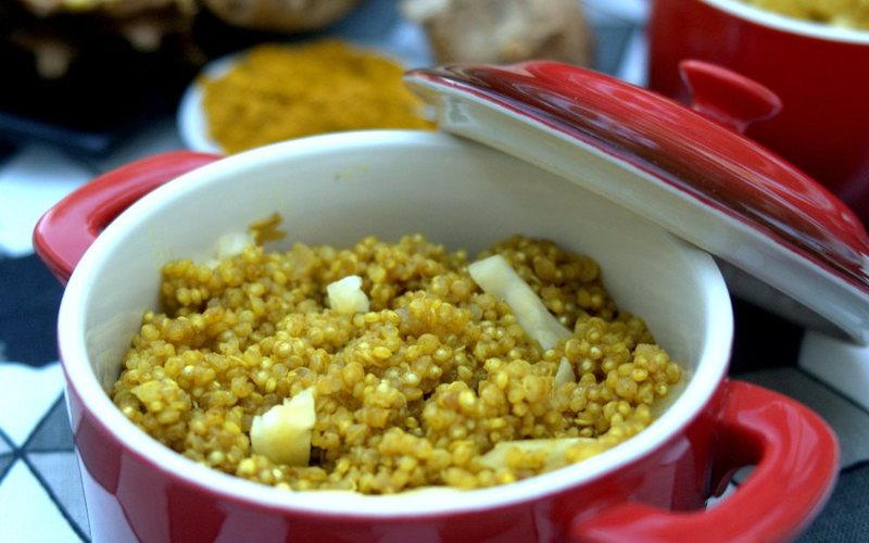 Curry de quinoa à l'ananas
