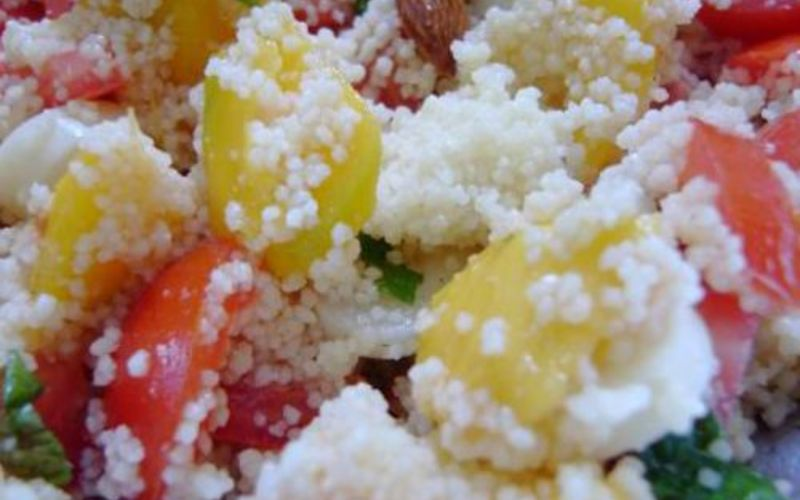 Taboulé tomates concombre mangue