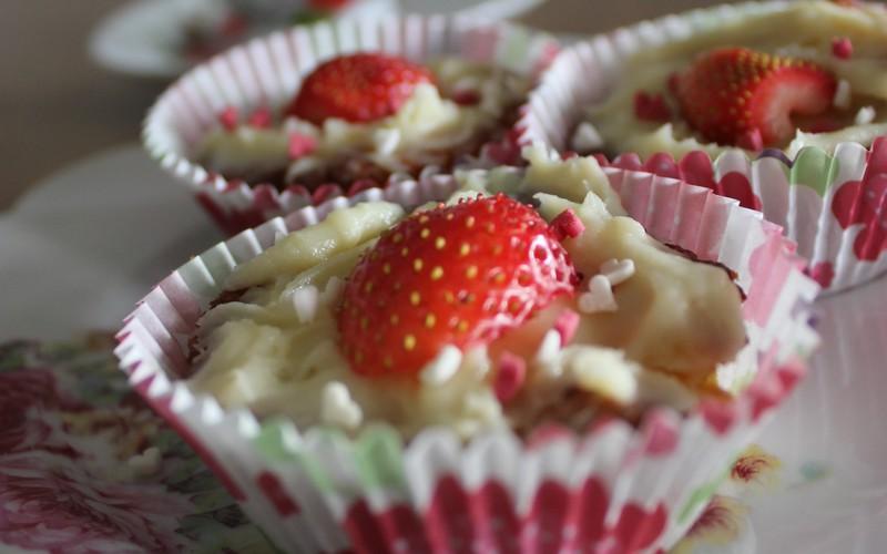"Cupcakes ""Alban le chocolat blanc"""