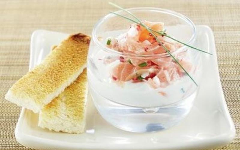 Papillote express de saumon au Sencha