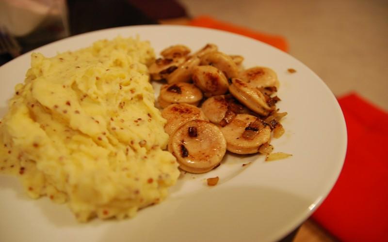 Recette boudin blanc et pur e la moutarde l 39 ancienne for La cuisine de l etudiant