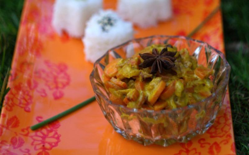 Curry carottes et noix de coco (Vegan)