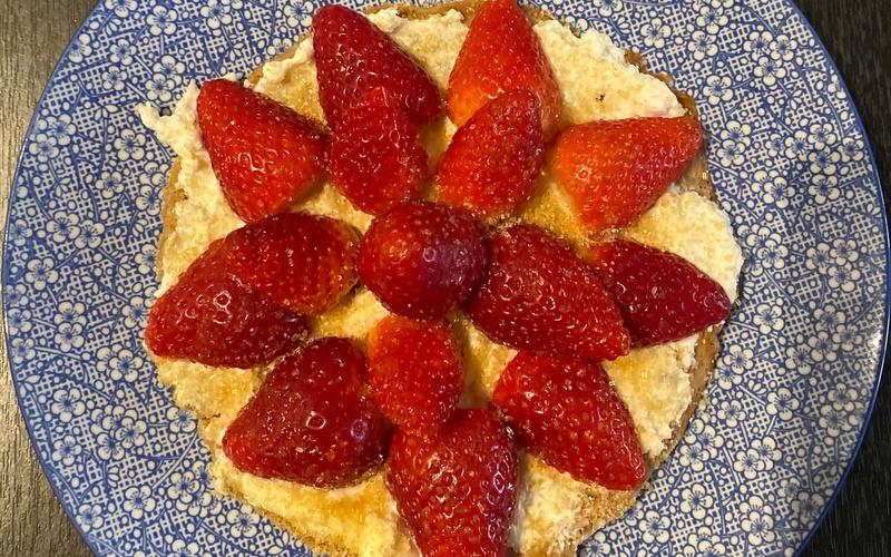 Crêpes à la ricotta et aux fraises